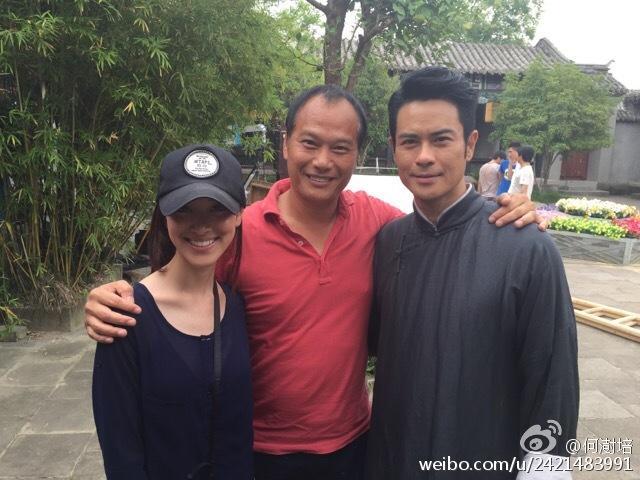Trần Khải Lâm, đạo diễn Hà Thụ Bồi và Trịnh Gia Dĩnh