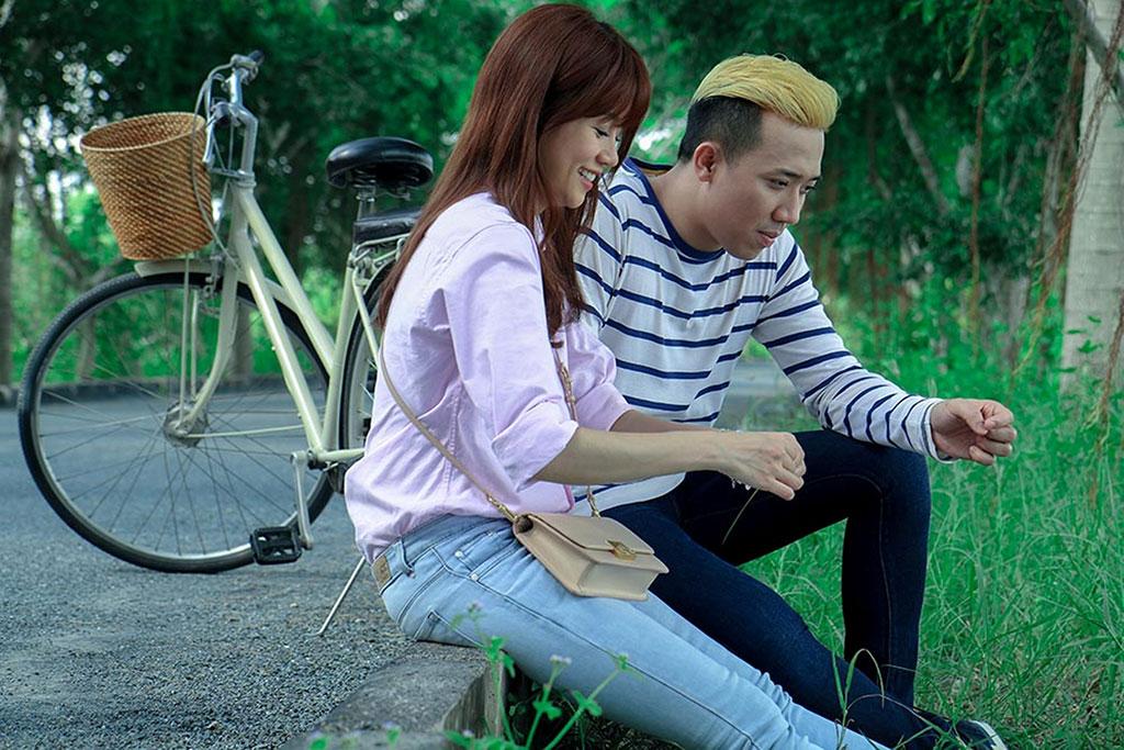 An Nguy và Trấn Thành trong phim Chờ em đến ngày mai (Ảnh: ĐPCC)